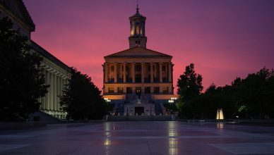 Nashville Capital Building at dusk