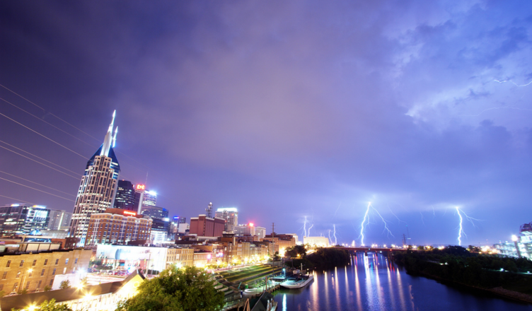 Nashville lightning by Chris Wage